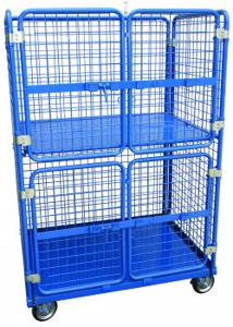 Picture of Two Tier Warehouse Stock Trolley with Gates